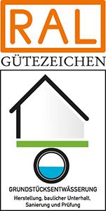 RAL Gütezeichen Grundstücksentwässerung Logo
